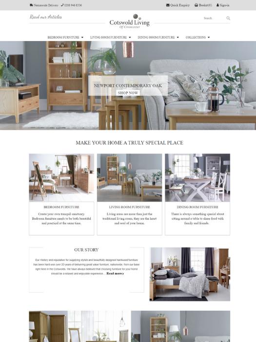 Cotswold-Living-Website-Design