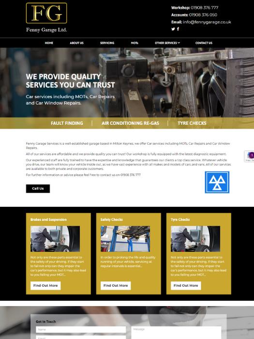 Fenny-Garage-Website-Design