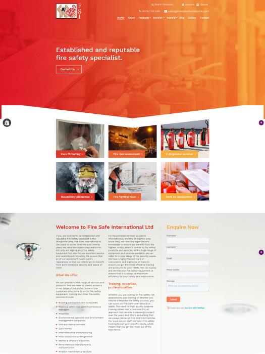 Firesafe-Website-Design