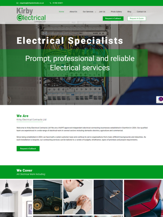 Kirby-Electrical-Website-Design