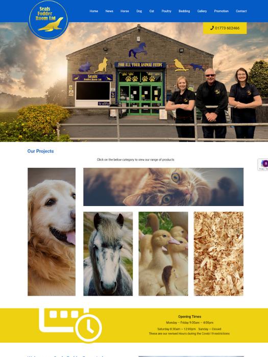 Seals-Fodder-Website-Design
