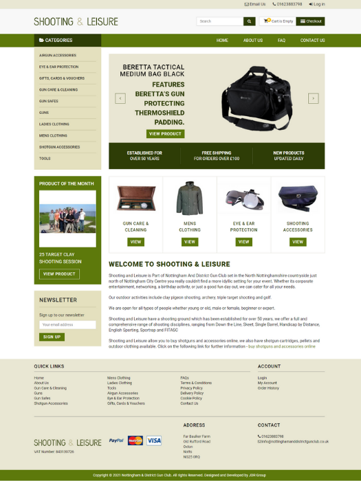 Shooting-And-Leisure-Website-Design